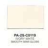Polyester Ivory White Smooth Semi-gloss